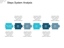 Steps System Analysis Ppt Powerpoint Presentation Layouts Graphics Tutorials Cpb