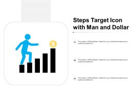 Steps Target Icon With Man And Dollar