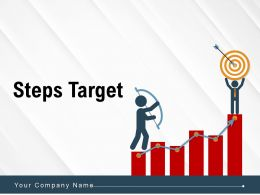 Steps Target Infographic Target Arrow Dollar Icon Bubble