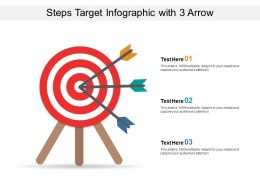 Steps Target Infographic With 3 Arrow