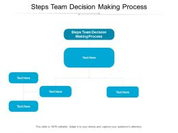 Steps Team Decision Making Process Ppt Powerpoint Presentation Infographic Template Files Cpb
