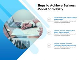 Steps To Achieve Business Model Scalability