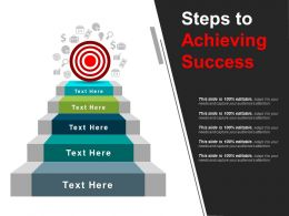 Steps To Achieving Success Powerpoint Templates