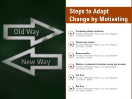 Steps To Adapt Change By Motivating