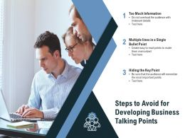 Steps To Avoid For Developing Business Talking Points