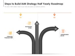 Steps To Build IAM Strategy Half Yearly Roadmap
