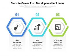 Steps To Career Plan Development In 3 Items
