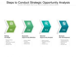 Steps To Conduct Strategic Opportunity Analysis