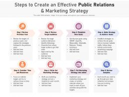 Steps To Create An Effective Public Relations And Marketing Strategy