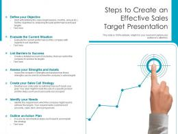 Steps To Create An Effective Sales Target Presentation