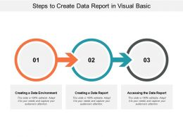 Steps To Create Data Report In Visual Basic