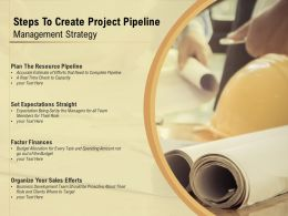 Steps To Create Project Pipeline Management Strategy