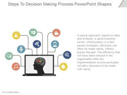 Steps To Decision Making Process Powerpoint Shapes