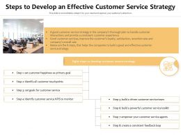 Steps To Develop An Effective Customer Service Strategy