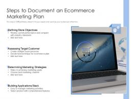 Steps To Document An Ecommerce Marketing Plan