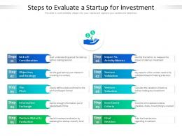 Steps To Evaluate A Startup For Investment