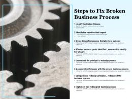 Steps To Fix Broken Business Process