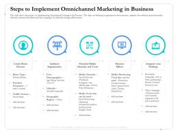 Steps To Implement Omnichannel Marketing In Business Campaigns Ppt Formats