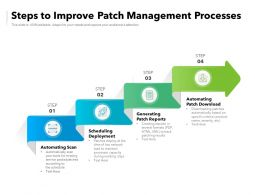 Steps To Improve Patch Management Processes