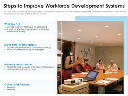 Steps To Improve Workforce Development Systems