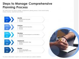 Steps To Manage Comprehensive Planning Process