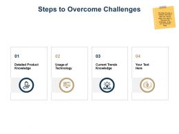 Steps To Overcome Challenges Ppt Powerpoint Presentation Model Graphics Example