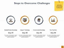 Steps To Overcome Challenges Ppt Powerpoint Presentation Outline Background Image