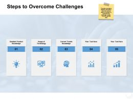 Steps To Overcome Challenges Product Ppt Powerpoint Presentation File Master