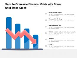 Steps To Overcome Financial Crisis With Down Ward Trend Graph
