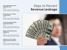 Steps To Prevent Revenue Leakage