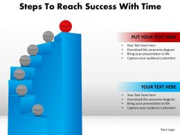 Steps to Reach Success  With Time Powerpoint Templates ppt presentation slides 812