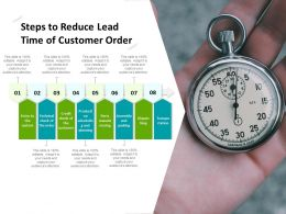 Steps To Reduce Lead Time Of Customer Order