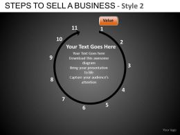 Steps To Sell A Business 2 Powerpoint Presentation Slides DB