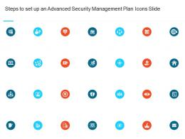Steps To Set Up An Advanced Security Management Plan Icons Slide Ppt Professional