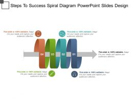 Steps To Success Spiral Diagram Powerpoint Slides Design