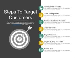 Steps To Target Customers Good Ppt Example