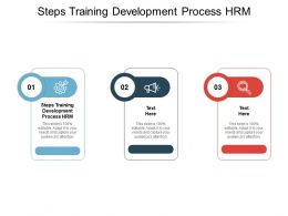 Steps Training Development Process HRM Ppt Powerpoint Presentation Pictures Vector Cpb