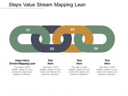 Steps Value Stream Mapping Lean Ppt Powerpoint Presentation Infographic Template Templates Cpb