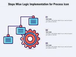 Steps Wise Logic Implementation For Process Icon