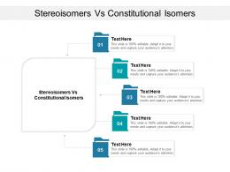 Stereoisomers Vs Constitutional Isomers Ppt Powerpoint Presentation Gallery Influencers Cpb
