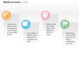 Stethoscope Heart Brain Health Medical Cart Ppt Icons Graphics