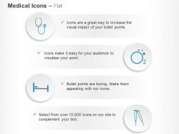 Stethoscope Oxygen Supply Bed Crutches Ppt Icons Graphics