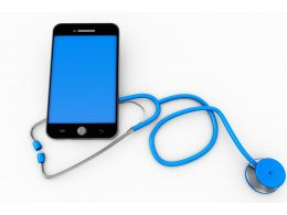 Stethoscope With Smartphone Showing Concept Of Medical Stock Photo