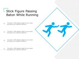 Stick Figure Passing Baton While Running