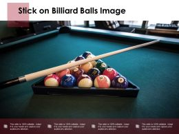 Stick On Billiard Balls Image