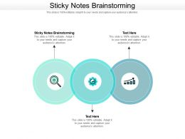 Sticky Notes Brainstorming Ppt Powerpoint Presentation Styles Graphics Tutorials Cpb