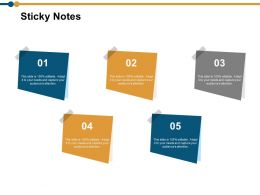 Sticky Notes Ppt Powerpoint Presentation Model Sample