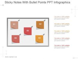 Sticky Notes With Bullet Points Ppt Infographics