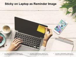 Sticky On Laptop As Reminder Image