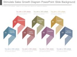 Stimulate Sales Growth Diagram Powerpoint Slide Background